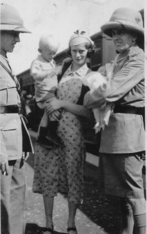 With Mother and Father (L) at Rail Station - Peshawar Oct 1936